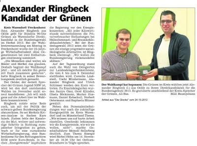 """Artikel aus """"Die Glocke"""" vom 24.10.2012"""