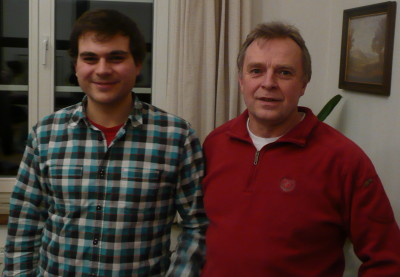 Alex Ringbeck und OV-Vorsitzender Wolfgang Thomann nach dem interessanten Wahlkampfeinstieg