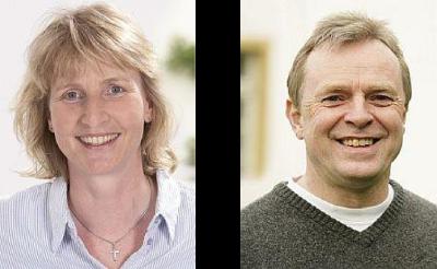 Barbara Köß (Fraktionsvorsitzende) und Wolfgang Thomann (Ortsverbandsvorsitzender)