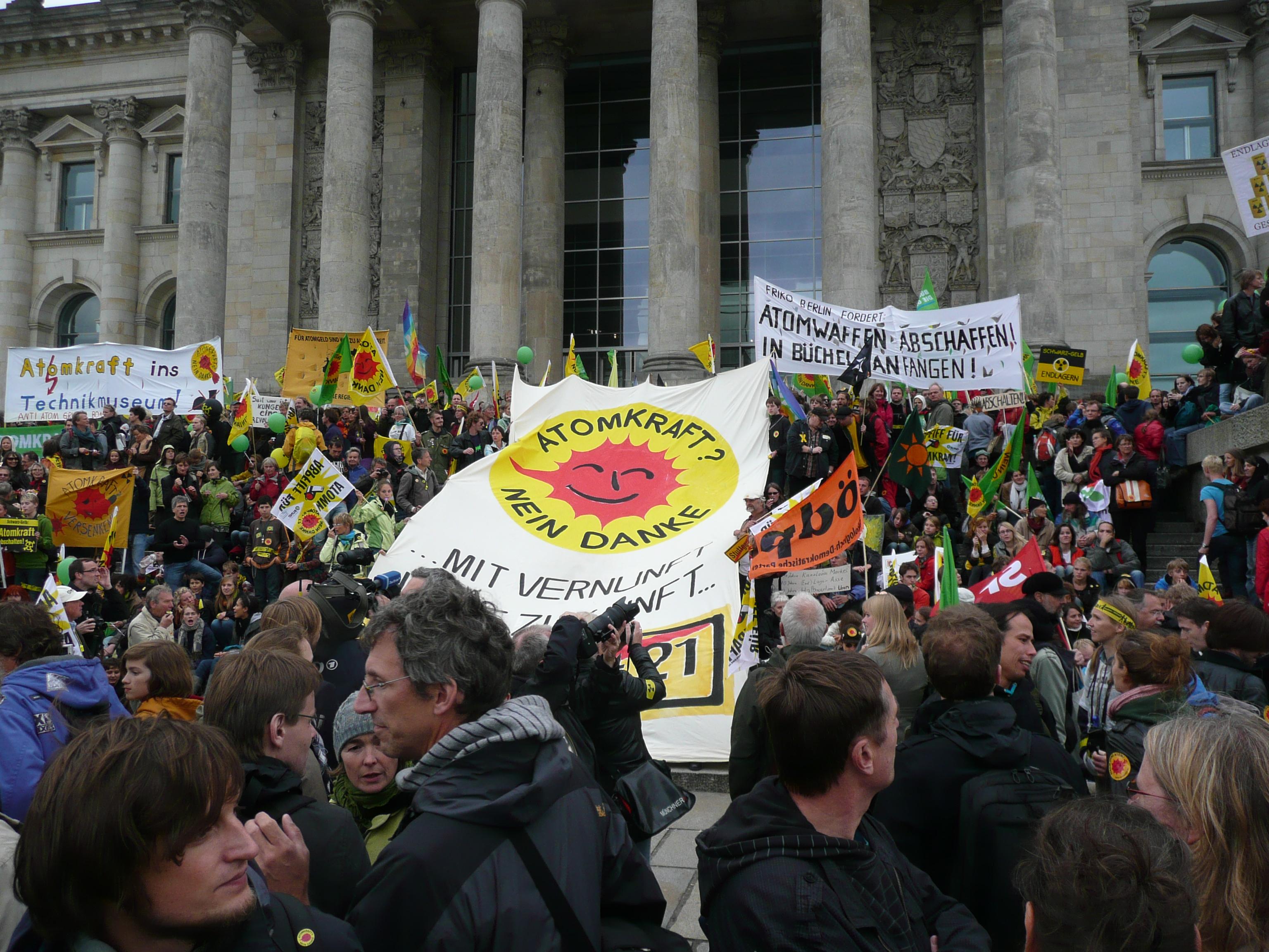 Demo gegen Atomkraft