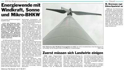 """Artikel aus """"Die Glocke"""" vom 17.06.2011"""