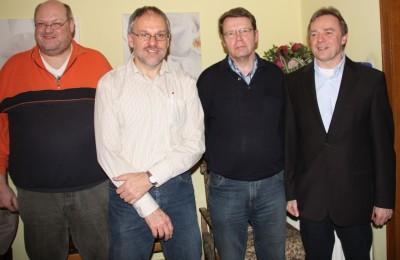 Der OV-Vorstand: Stellvertretender Kassierer Ludger Wiesch, Stellvertretender Vorsitzender Ulrich Gimpel, Kassierer Heiner Sudan und Vorsitzender Wolfgang Thomann (v.l.)
