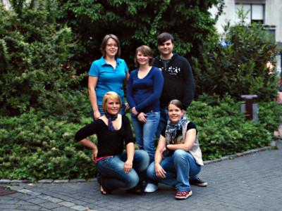 Der neue Vorstand der Grünen Jugend (v. l. n. r.): Lena Wickenkamp, Saskia Kaiser, Alexander Ringbeck, Marlene Mühlenbrock und Britta Wickenkamp