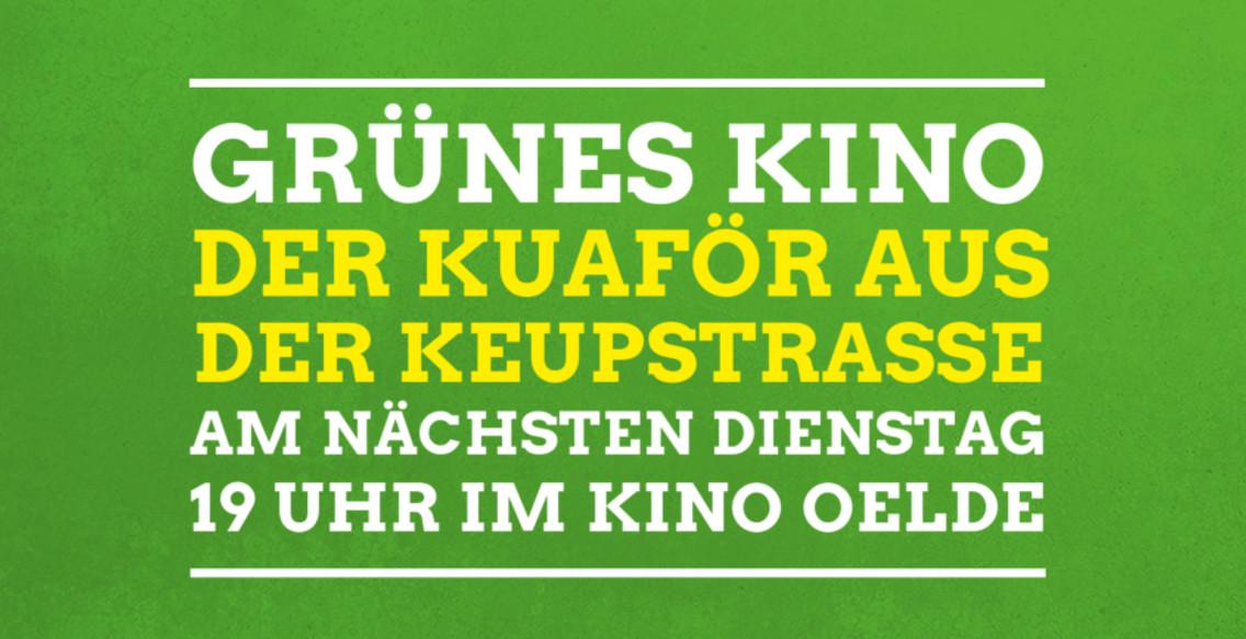 Grünes Kino am 3. Mai: Der Kuaför aus der Keupstrasse
