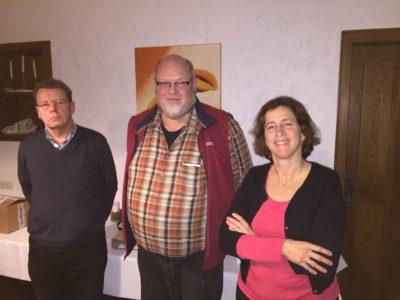 Kassierer Heiner Sudan, neuer OV-Sprecher Ludger Wiesch und stellvertretende OV-Sprecherin Pia Scuderi