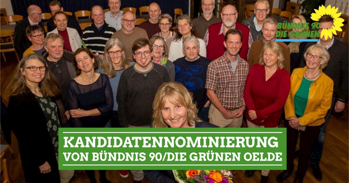 Kandidatennominierung von Bündnis 90/Die Grünen Oelde