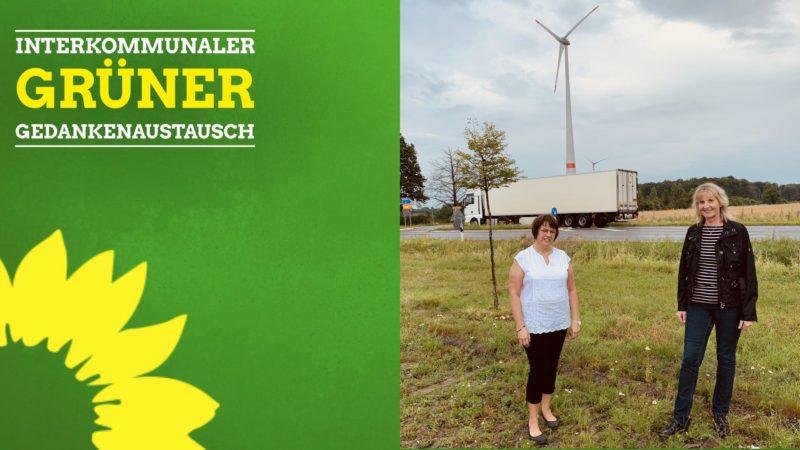 Die Bürgermeisterkandidatin der Grünen in Rheda-Wiedenbrück, Sonia von Zons (l.), und die von den Grünen nominierte Oelder Bürgermeisterkandidatin Barbara Köß haben sich auf dem Gebiet der Aurea zu einem Gespräch getroffen.