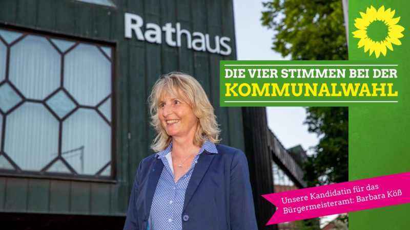Unsere Kandidatin für das Bürgermeisteramt: Barbara Köß