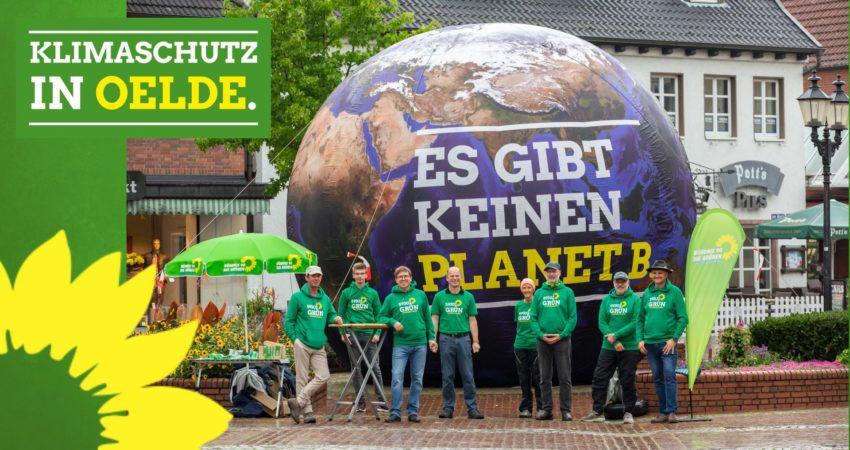 Infostand der Oelder Grünen - Es gibt keinen Planet B