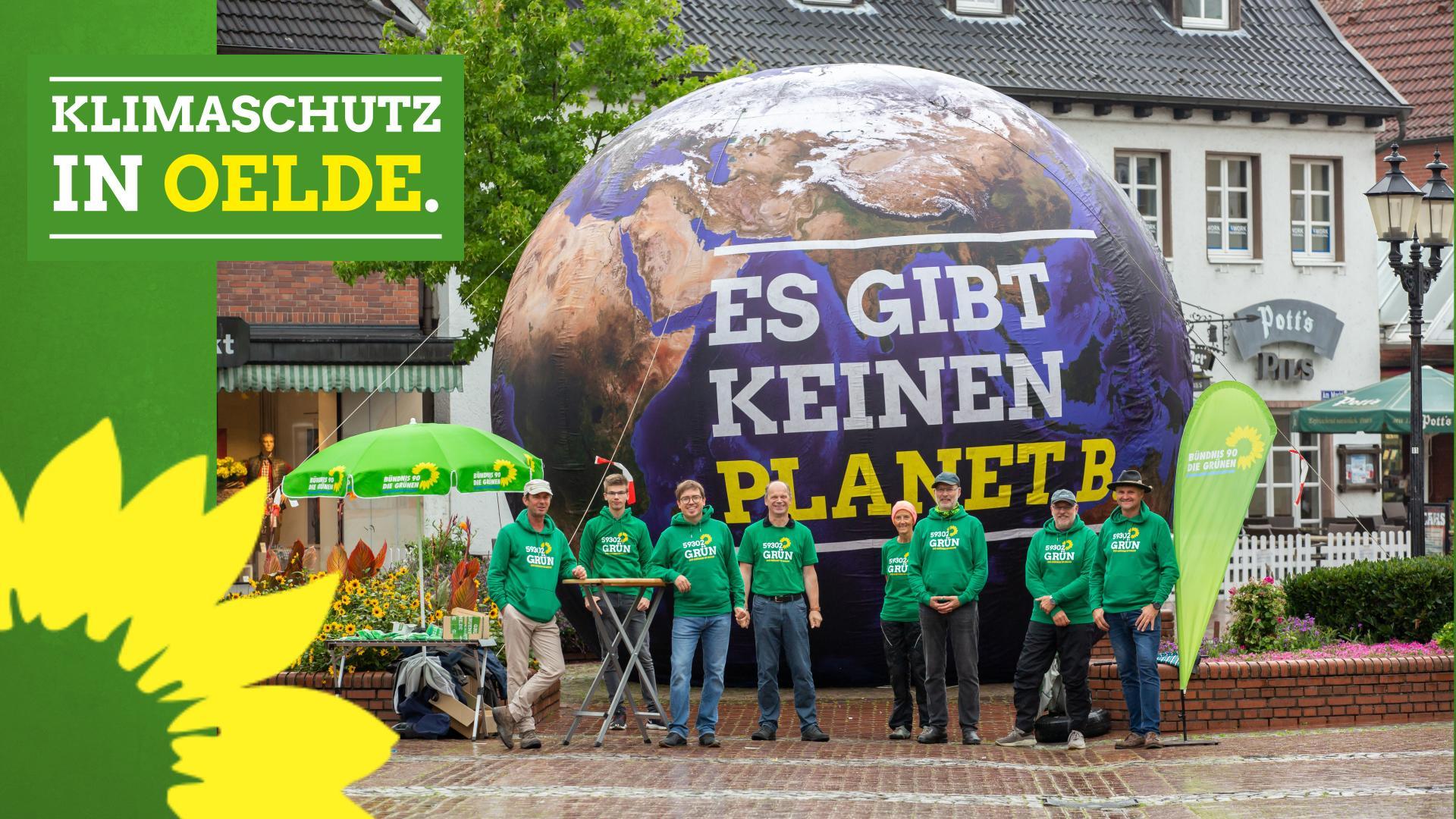 Klimaschutz Aktion in der Oelder Innenstadt