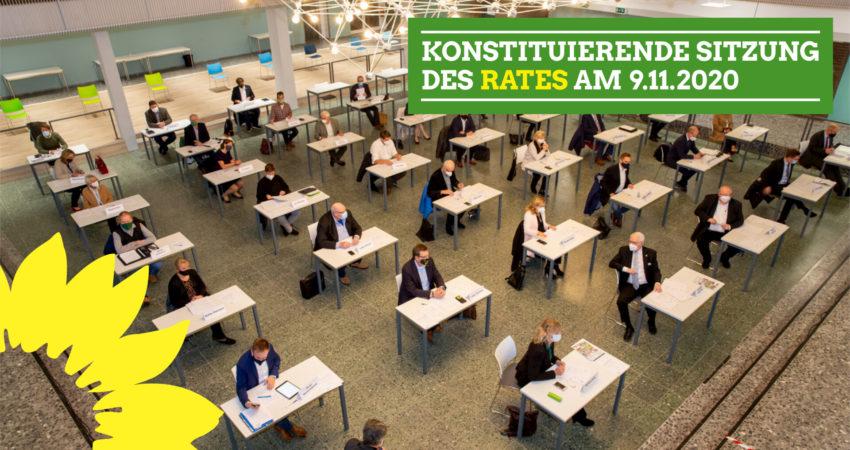 Konstituierende Sitzung des Rates am 9.11.2020 Foto: Knut Reimann
