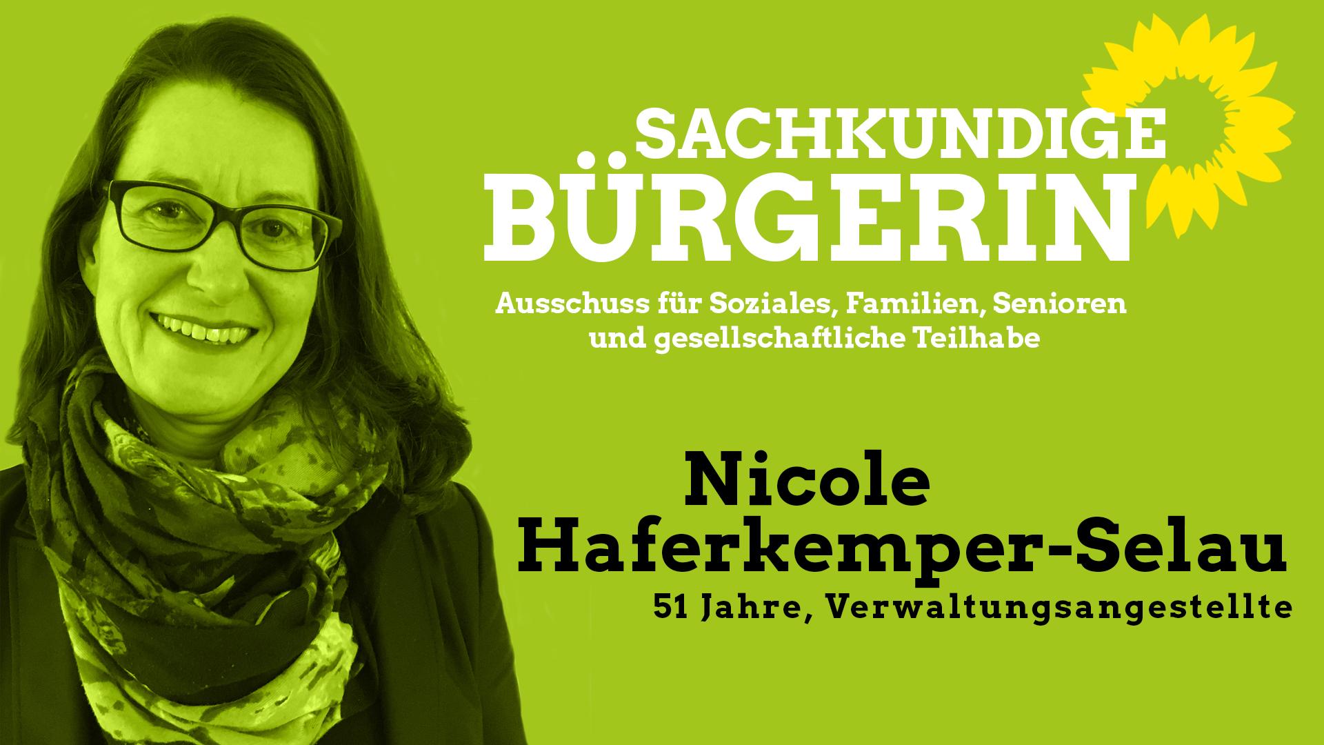 Nicole Haferkemper-Selau, sachkundige Bürgerin