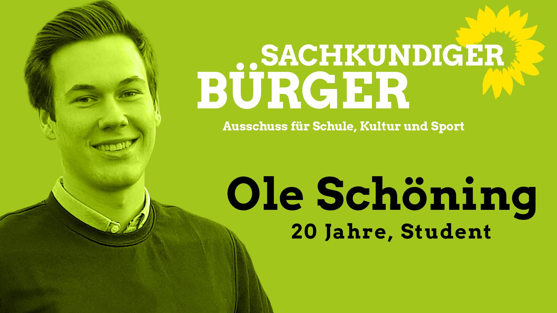 Ole Schöning, Sachkundiger Bürger